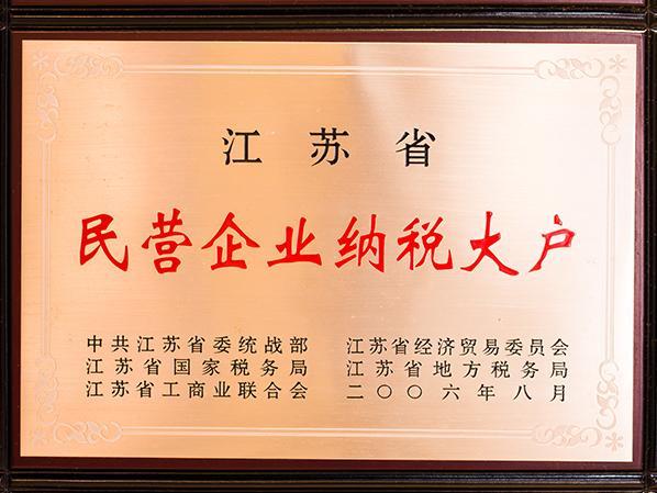 江苏省民营企业纳税大户